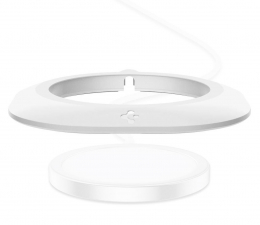 Ładowarka do smartfonów Spigen Pad Magfit do Apple MagSafe Charger biały