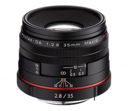 Obiektywy stałoogniskowy Pentax DA 35mm F2.8 HD Macro LTD