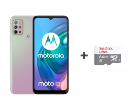Smartfon / Telefon Motorola Moto G10 4/64GB Iridescent Pearl + 64GB