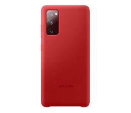 Etui / obudowa na smartfona Samsung Silicone Cover do Galaxy S20 FE czerwone