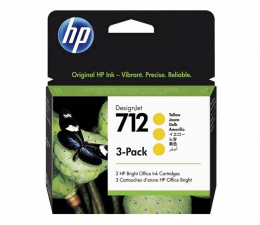 Tusz do drukarki HP 712 yellow 29ml 3-Pack