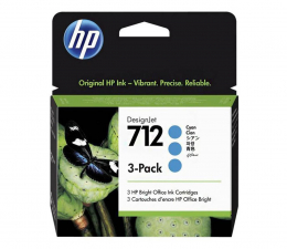 Tusz do drukarki HP 712 cyan 29ml 3-Pack