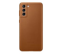 Etui / obudowa na smartfona Samsung Leather Cover do Galaxy S21+ Brown
