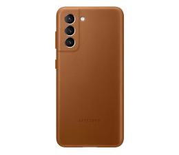 Etui / obudowa na smartfona Samsung Leather Cover do Galaxy S21 Brown