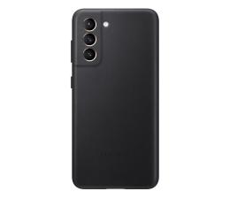 Etui / obudowa na smartfona Samsung Leather Cover do Galaxy S21 Black