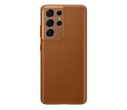 Etui / obudowa na smartfona Samsung Leather Cover do Galaxy S21 Ultra Brown