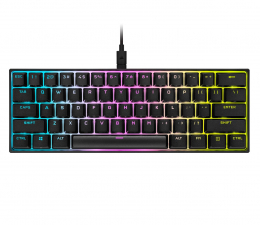 Klawiatura  przewodowa Corsair K65 RGB MINI 60% (CherryMX Speed)