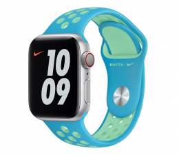 Pasek / bransoletka Apple Pasek Sportowy Nike do Apple Watch Blue / Green