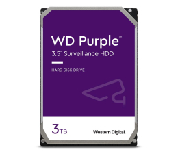 Dysk HDD WD PURPLE 3TB 5400obr. 64MB CMR