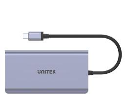 Stacja dokująca do laptopa Unitek USB-C - 2x USB 3.1, HDMI, DP, RJ-45, czytnik SD