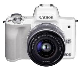 Bezlusterkowiec Canon EOS M50 biały + M15-45mm F3.5-6.3 IS STM