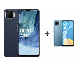 Smartfon / Telefon OPPO A73 4/128 AMOLED NFC Granatowy+A15 2/32 Niebieski