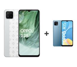 Smartfon / Telefon OPPO A73 4/128GB AMOLED NFC Biały+A15 2/32GB Niebieski