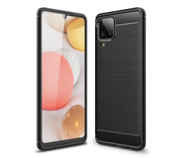 Etui / obudowa na smartfona Tech-Protect TPUcarbon do Samsung Galaxy A12/M12 czarny