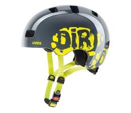 Ochraniacz/kask UVEX Kid 3 dirtbike szaro-zielony 55-58 cm