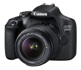 Lustrzanka Canon EOS 2000D 18-55mm + 75-300mm