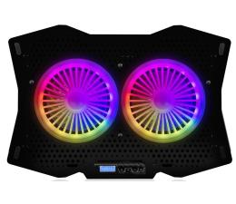 Podstawka chłodząca pod laptop MODECOM MC-CF18 RGB Silent Fan Czarna Podstawka Chłodząca