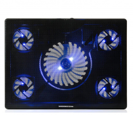 Podstawka chłodząca pod laptop MODECOM MC-CF15 Silent Fan Czarna Podstawka Chłodząca
