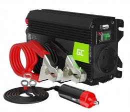 Przetwornica samochodowa Green Cell Inwerter Pro 12V na 230V 300W/600W mod. sin.