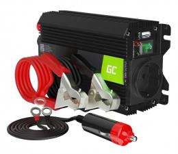 Przetwornica samochodowa Green Cell Inwerter PRO 24V na 230V 300W/600W mod. sin.