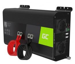 Przetwornica samochodowa Green Cell Inwerter PRO 12V na 230V 1000W/2000W czysta sin.