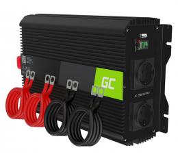 Przetwornica samochodowa Green Cell Inwerter PRO 12V na 230V 2000W/4000W mod. sin.