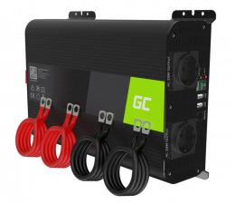 Przetwornica samochodowa Green Cell Inwerter PRO 12V na 230V 2000W/4000W czysta sin.