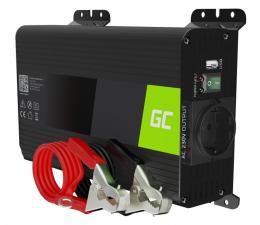 Przetwornica samochodowa Green Cell Inwerter Pro 12V na 230V 300W/600W czysta sin.