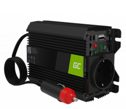 Przetwornica samochodowa Green Cell Inwerter 12V do 230V, 150W/300W