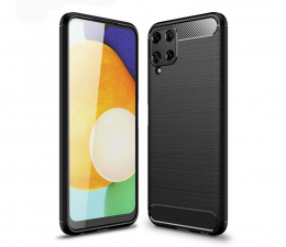 Etui / obudowa na smartfona Tech-Protect TPUcarbon do Samsung Galaxy A22 4G czarny