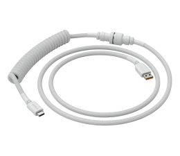 Kable do klawiatur Glorious PC Gaming Race Coil Cable Ghost White USB-C - USB-A