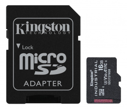 Karta pamięci microSD Kingston 16GB microSDHC Industrial C10 A1 pSLC