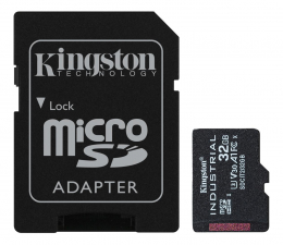 Karta pamięci microSD Kingston 32GB microSDHC Industrial C10 A1 pSLC