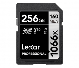 Karta pamięci SD Lexar 256GB 1066x Professional SDXC UHS-1 U3 V30