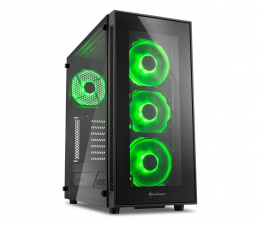 Obudowa do komputera Sharkoon TG5 Glass Green