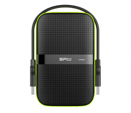 Dysk zewnętrzny HDD Silicon Power Armor A60 1TB 3.2 Gen. 1 Czarno-Zielony