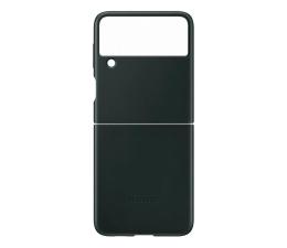 Etui / obudowa na smartfona Samsung Leather Cover do Galaxy Flip3 zielony