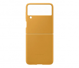 Etui / obudowa na smartfona Samsung Leather Cover do Galaxy Flip3 żółty