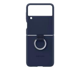 Etui / obudowa na smartfona Samsung Silicone Cover z pierścieniem do Galaxy Flip3 Navy