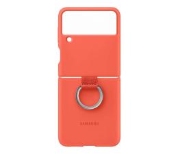 Etui / obudowa na smartfona Samsung Silicone Cover z pierścieniem do Galaxy Flip3 Pink