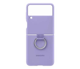 Etui / obudowa na smartfona Samsung Silicone Cover z pierścieniem Galaxy Flip3 Violet