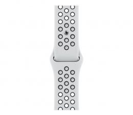 Pasek / bransoletka Apple Pasek Sportowy Nike do Apple Watch platyna/czarny