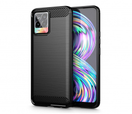 Etui / obudowa na smartfona Tech-Protect TPUcarbon do realme Narzo 30 5G czarny