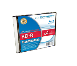 Płyta BD-R Esperanza 25GB 4x BluRay SLIM 1szt.
