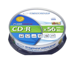 Płyta CD-R Esperanza 700MB/80min. Audio CD 56x CAKE 10szt.