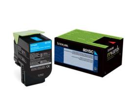 Toner do drukarki Lexmark 802SC cyan 2000 str.