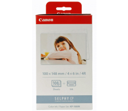 Papier do drukarki Canon KP-108IN -108 szt 10x15cm (papier+folia barwiąca)