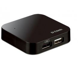 Hub USB D-Link DUB-H4 USB 2.0 (4 porty, aktywny, zasilacz)