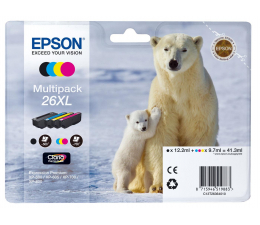 Tusz do drukarki Epson T2636 zestaw 4 tuszów CMYK (C13T26364010)