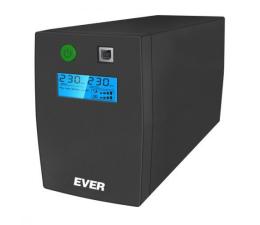 Zasilacz awaryjny (UPS) Ever EASYLINE 650 AVR (650VA/360W, 2xPL, USB, AVR, LCD)